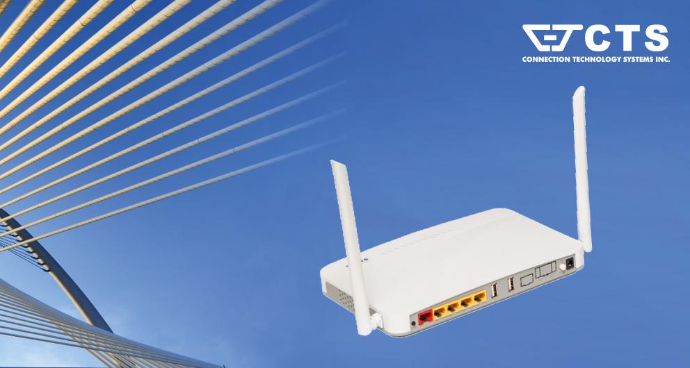 Nieuw glasvezelmodem met Wi-Fi 802.11 b/g/n/ac voor de recreatiemarkt