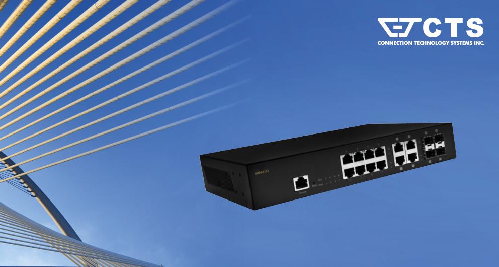 Nieuwe 12 poorts volledig manageable gigabit switch van CTS