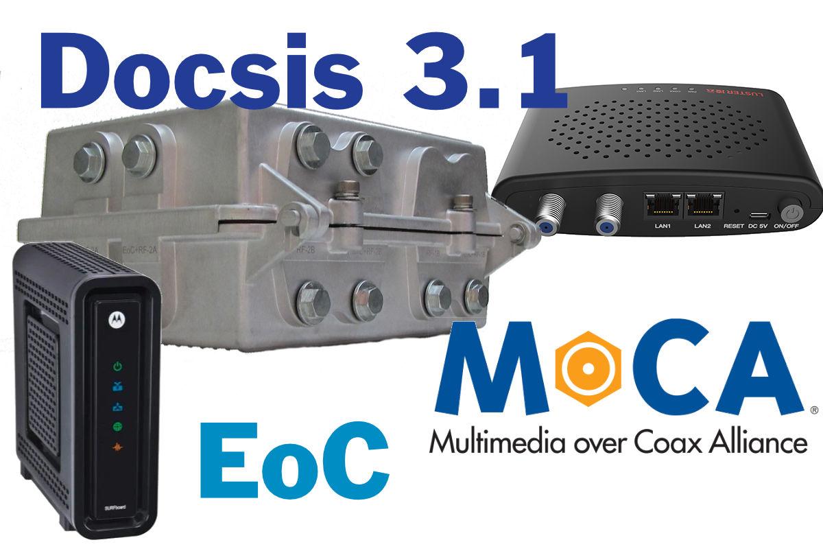 Docsis, EOC of Moca toegepast in kleine kabeltelevisienetwerken.